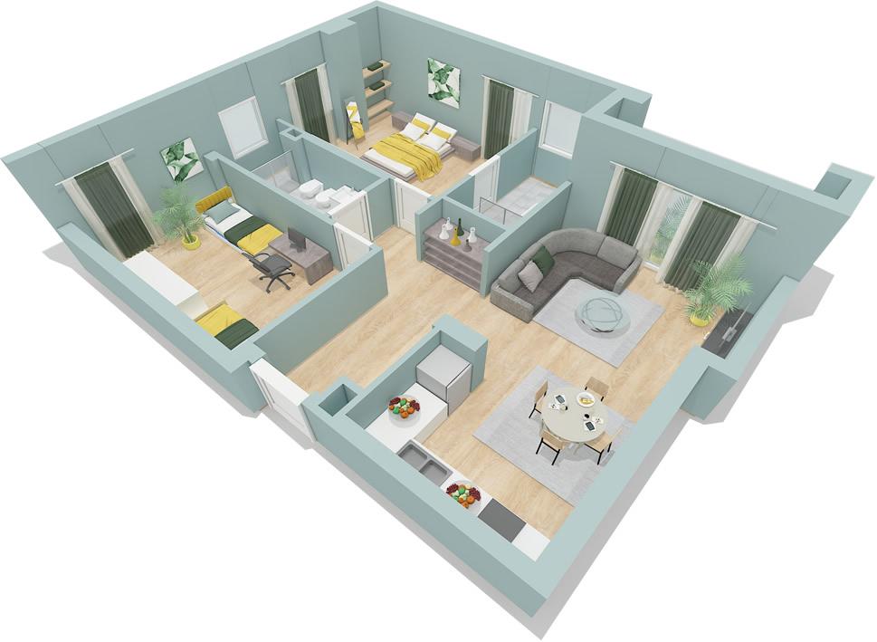 TRS-0618-1095 Shiten apartamente me siperfaqe te ndryshme prane Spitalit Nene Tereza