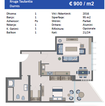 TRS-616-482  Apartamente ne shitje ne Durres