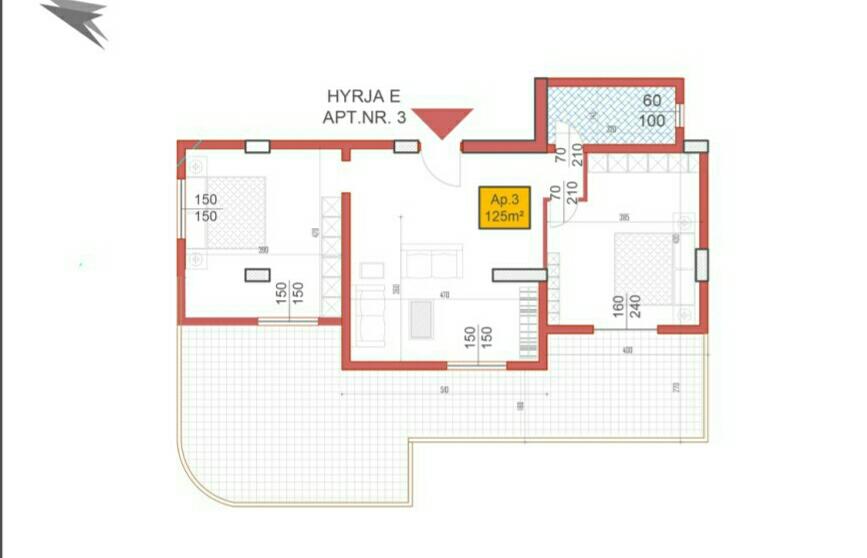 DRS-717-003 Shitet apartament 2+1 te Shkembi i Kavajes ne Golem