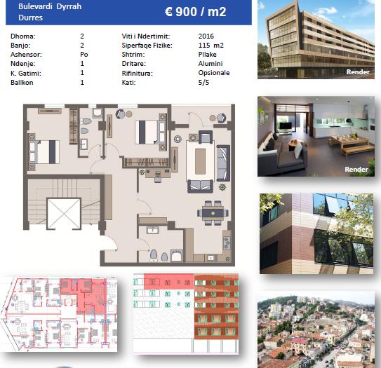 TRS-616-479 Apartament 2+1 ne shitje ne Durres