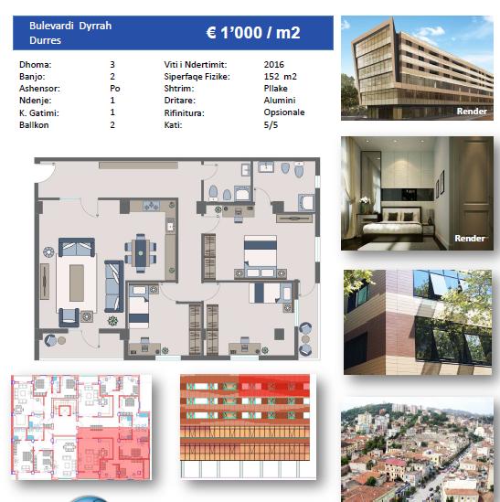 TRS-616-480 Apartament 3+1 ne shitje ne Durres